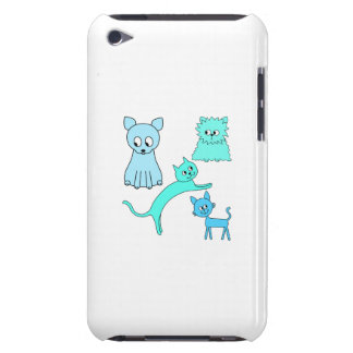 Turquoise and Blue Cats. iPod Touch Cover