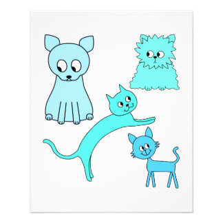 Turquoise and Blue Cats. Custom Flyer