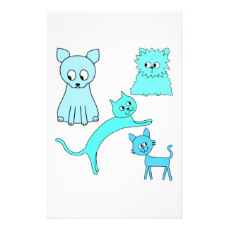 Turquoise and Blue Cats. Flyer Design