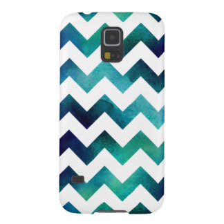 Turquoise and Blue Watercolor Chevron Galaxy S5 Galaxy S5 Cover