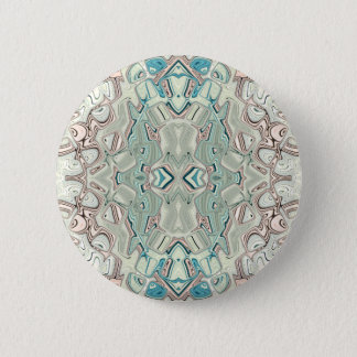 Turquoise And Copper Blend 6 Cm Round Badge