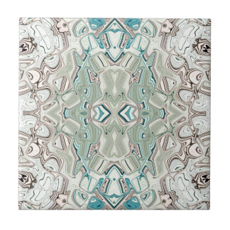 Turquoise And Copper Blend Ceramic Tile