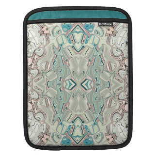 Turquoise And Copper Blend iPad Sleeve