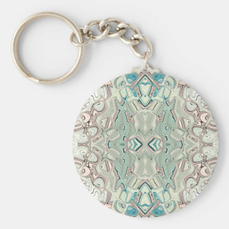 Turquoise And Copper Blend Key Ring