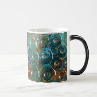 Turquoise and Copper Colored Abstract Coffee Mug