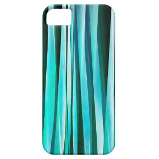 Turquoise and Cyan Ocean Stripy Lines Pattern Barely There iPhone 5 Case