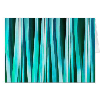 Turquoise and Cyan Ocean Stripy Lines Pattern Card