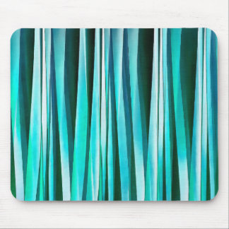 Turquoise and Cyan Ocean Stripy Lines Pattern Mouse Pad