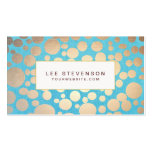 Turquoise and Gold Modern Pattern Beauty Salon Pack Of Standard Business Cards