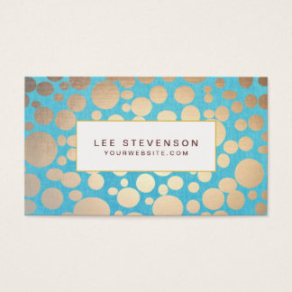 Turquoise and Gold Modern Pattern Beauty Salon Business Card