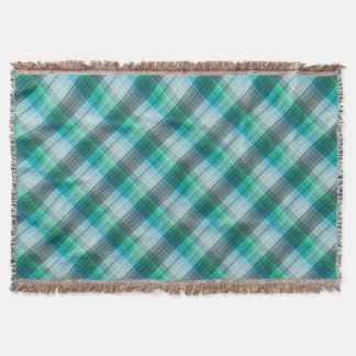 Turquoise and gray in a cage . throw blanket
