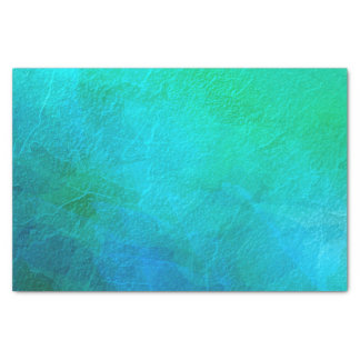 Turquoise and Green Abstract Art Tissue Paper