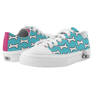 Turquoise and Hot Pink Dog Bone #GOFORTH Low Tops