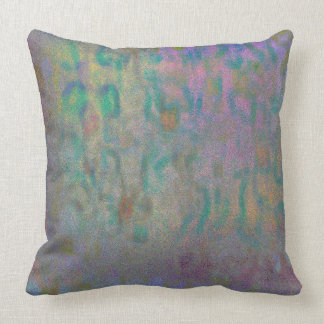 Turquoise and Lavender Pattern Throw Pillow