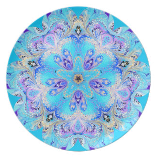Turquoise and Lavender Plate