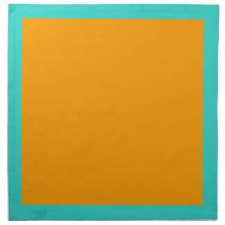 Turquoise and Orange Napkins