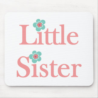 turquoise and pink flower little sister mousepads