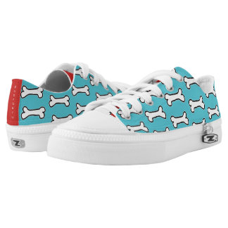 Turquoise and Red Dog Bone #GOFORTH Low Tops