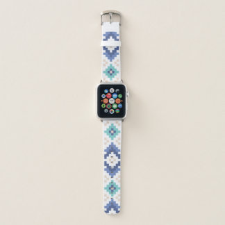 Turquoise and Tan Southwest Apple Watch Band