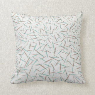 Turquoise and Taupe  Throw Pillow