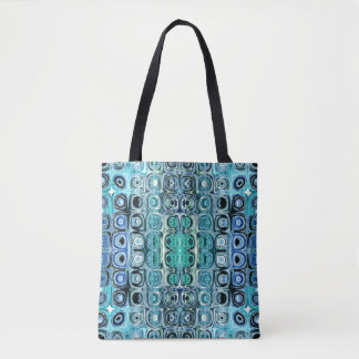 Turquoise And Teal Reflections Tote Bag
