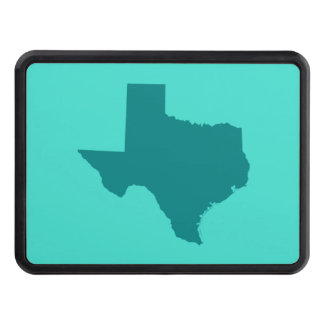 Turquoise and Teal Texas Shape Trailer Hitch Covers