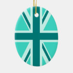 Turquoise and Teal Union Jack 2