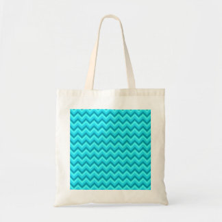 Turquoise and Teal Zigzag Pattern. Canvas Bags