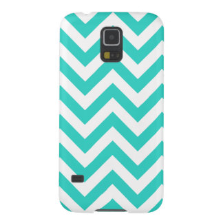 Turquoise And White Chevron Galaxy S5 Cover