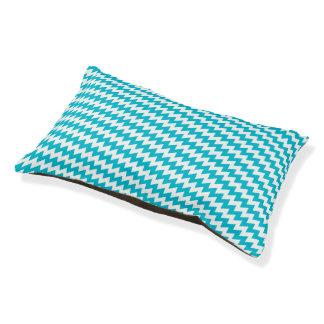 Turquoise and white diagonal chevron