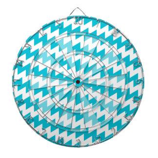 Turquoise and white diagonal chevron dartboards