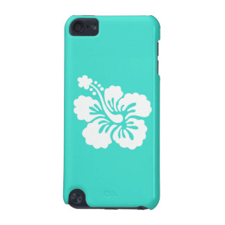 Turquoise and White Hibiscus iPod Touch (5th Generation) Cases