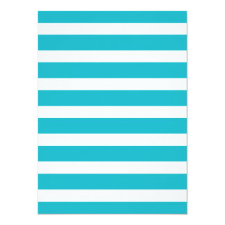 Turquoise and White Stripe Nautical Summer 14 Cm X 19 Cm Invitation Card