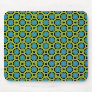 Turquoise and Yellow Mouse Pad