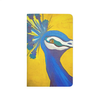 Turquoise and Yellow Peacock Journal