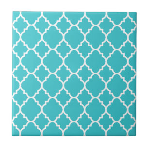 Blue Arabesque Decorative Ceramic Tiles Zazzle Com Au