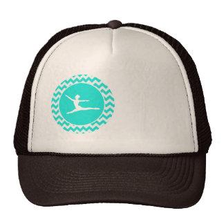 Turquoise, Aqua Color Chevron; Ballet Hat