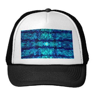 Turquoise Aqua Futurism Modern Textured Pattern Hats
