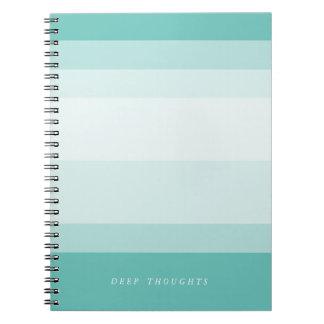 Turquoise Aqua Gradient Colorblock Notebooks
