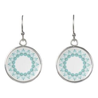 Turquoise Art Deco Design Earrings
