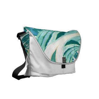 Turquoise art design commuter bag