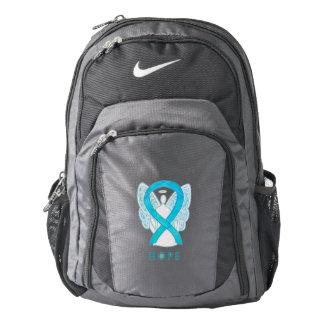 Turquoise Awareness Ribbon Angel Custom Backpack