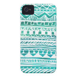 Turquoise Aztec Pattern iPhone 4 Case