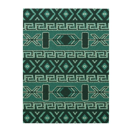 South West Inlay Designs And Patterns : Turquoise aztec pattern rustic southwest wood print zazzle