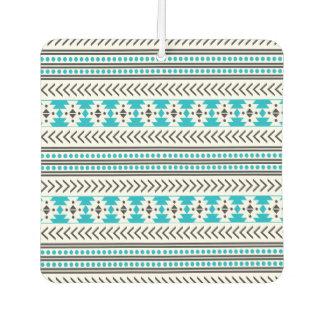 Turquoise Aztec Tribal Print Geometric Pattern