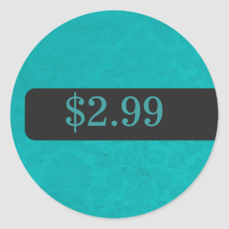 Turquoise Background Price Tag Stickers