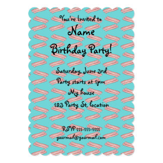 Turquoise bacon pattern card