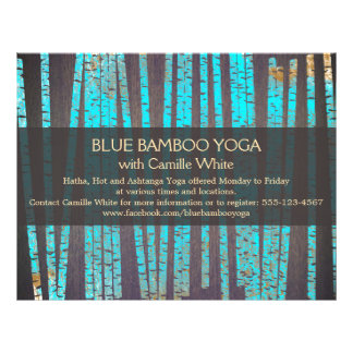 Turquoise Bamboo Yoga  Nature Health Spa Wood Full Color Flyer