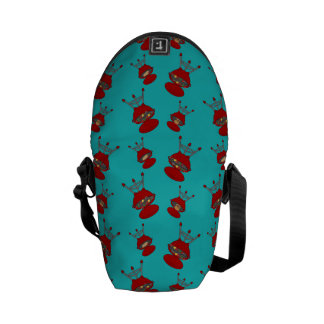 turquoise barbeque pattern courier bags