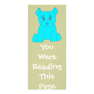 Turquoise Bear Bookmark Template Rack Card Design